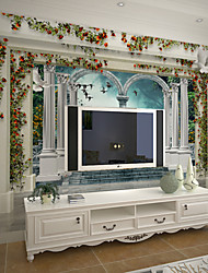 JAMMORY Art Deco Wallpaper Contemporary Wall Covering,Other A Large Mural Wallpaper Continental Pillars