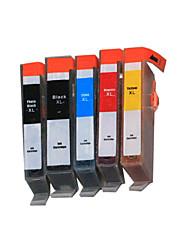 bloom®564bk / PGBK / c / m / j compatibele inkt cartridge voor hp d5445 / d5468 / c5370 / c5383 / c5390 / C6380 / B8550 vol inkt (5 kleur