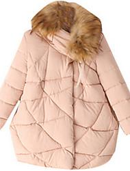 Girl's Black / White Jacket & Coat,Stripes Polyester Winter