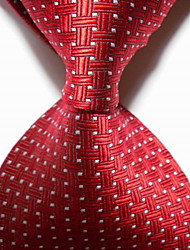 New Red Crossed JACQUARD WOVEN Men's Tie Necktie TIE2027