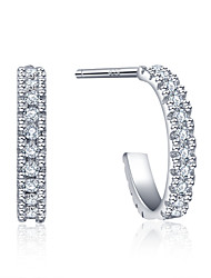 925 Sterling Silver Women Jewelry Fashion High Quality Earrings with Cubic Zirconia