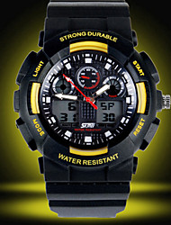 SKMEI® Men's Analog- Digital Silicone Band 30m Water-resisstant Multi-Functional Sports Watch Cool Watch Unique Watch Fashion Watch