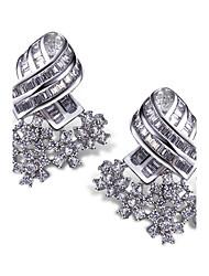 Stud Earrings Drop Earrings Fashion Zircon Cubic Zirconia Platinum Plated White Jewelry For 2pcs