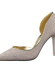 Women's Shoes Stiletto Heel Heels / Pointed Toe / Closed Toe Heels Dress Black / Blue / Silver / Gold / Burgundy