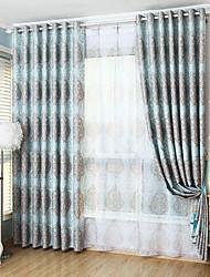 Deux Panneaux Moderne Rayure Comme image Salle de séjour Polyester Rideaux occultants rideaux