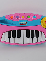 Plastic Pink / Yellow Reyboard Random Music Toy