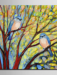 Mini Size E-HOME Oil painting Modern A Bird In The Tree Pure Hand Draw Frameless Decorative Painting