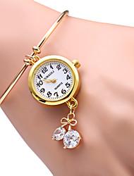 JUBAOLI Women's Fashion Watch Bracelet Watch Quartz Alloy Band Sparkle Heart shape Gold
