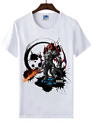 Cotton Lycra Men's T-shirt/World of Warcraft Wow Ink Series 1Pc Doomguard