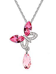Women's Pendant Necklaces Crystal Alloy Fashion Purple Rose Green Blue Jewelry Daily Casual 1pc