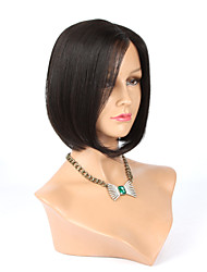 Glueless Brazilian Virgin Human Hair Bob Wig For Black Women Short Cut Mono Front Human Hair Wigs