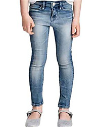 Girl's Jeans,Cotton Spring / Fall Blue