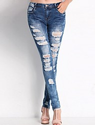 Women's Causal Holes Skinny  Jeans Pants