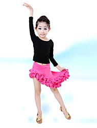 Devemos nós dança latin desempenho de algodão / spandex 2 peças de roupas