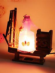criativa madeira da tração garrafa vela lâmpada de luz presente lâmpada quarto lâmpada de decoração de mesa para o miúdo (cores sortidas)