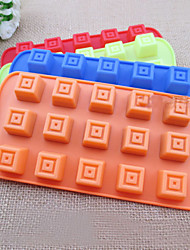 Silicone Square-shaped 15-Cup Mold Cake Decorating Ice Tray Cake Moulds Chocolate Mould(Random Color)