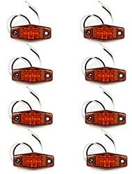 2LED indicatori lampada spia RV campeggio camion rimorchio Ambra x8