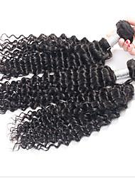 Cabelo virgem onda profunda profunda onda de cabelo 100% virgem não transformados brasileira 3pcs / lot tece onda profunda brasileiro