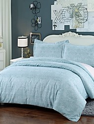 Simple Opulence Duvet Cover Set Polyester luxury Printed Cambridge Blue Include Quilt Cover Pillow Cases Queen King