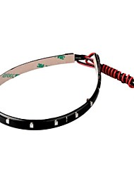 ruban bande auto 30cm chaîne de lumière rouge 12v