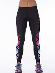 Women's Print Black Active Pants,Active