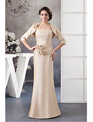 Trumpet / Mermaid Mother of the Bride Dress Floor-length Taffeta with Beading / Flower(s)
