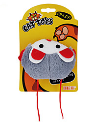 Cat Toy Pet Toys Catnip Plush Toy Cartoon Mouse Gray Orange Plastic