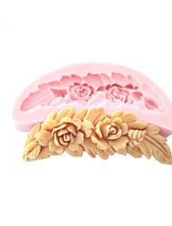гребень цветки силиконовые формы помадные формы сахарного ремесленные инструменты формы шоколада для тортов