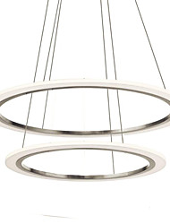 LED Acrylic Pendant Lamps Ceiling Hanging Chandeliers Light Fixtures with 2 ring 6080 CE FCC ROHS