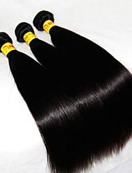 """3 pcs lote 8 """"-30"""" virgens malaio tramas cabelos lisos naturais 1b preto # baratos bundles tecer cabelo humano remy emaranhado livre"""