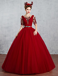 Princess Wedding Dress-Ruby Floor-length Bateau Tulle