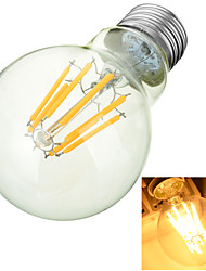 Marsing E27 8W 600lm 3000-6500k Warm/Cool White Globe LED Filament Lamp Bulb - White + Yellow (AC 85~265V)