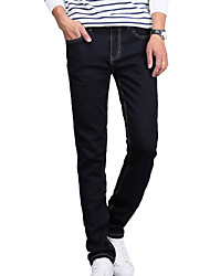 AOLONGQISHI® Men's Pure Long Sleeve Pant , Cotton / Denim Casual M8007