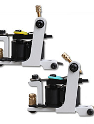 2 stuks professionele handgemaakte 10 wraps spoel tattoo machines liner shader tattoo supply