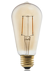 1 pcs GMY E27 2W 2 COB ≥180 lm Warm White ST58 edison Vintage LED Filament Bulbs AC 220-240 V 2200K