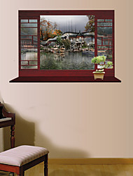 3D Wall Stickers Wall Decals Style Garden Scenery PVC Wall Stickers