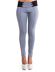 Women's Mid Rise Micro-elastic Jeans Pants Skinny Patchwork
