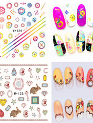 1pcs Fresh Nail Watermark Sticker 122-127