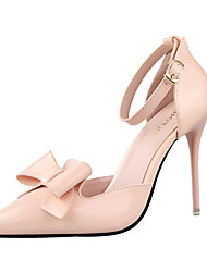 Women's Shoes Leatherette Stiletto Heel Heels Heels Casual Black / Pink / Red / White / Silver / Gray