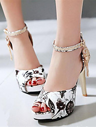 Women's Shoes Glitter / Customized Materials / Leatherette Stiletto Heel Heels / Peep Toe SandalsOffice & Career