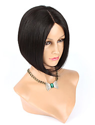 "12"" Glueless Straight Human Hair Bob Wig For Black Women Short Cut None Lace Human Hair Wigs"