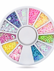 1wheel Colorful Sequins Nail Art Decorations