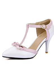 Women's Shoes Stiletto Heel D'Orsay & Two-Piece/Pointed Toe Heels Party & Evening/Dress Blue/Pink/White