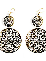 European Style Gold/Silver Double Circle Earrings Jewelry for Women
