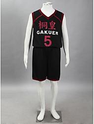 Kuroko's Basketball Daiki Aomine Tōō High School Basketball Team Uniform Black Number 5 Cosplay Costume