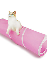 Cat Toy Pet Toys Tubes & Tunnel Foldable Textile Blue Pink
