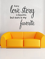 2016 New Arrival Decals Every Love Story Wall Stickers Sweet Love Romantic Art Wall Home Decor