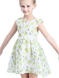 Girl's Dress,Cotton / Polyester Summer Green / Pink