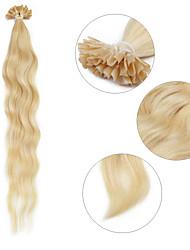 """neitsi 20 """"1 г / с кератином слияние у прибить наконечник естественная волна 100% человеческих волос расширения 22 #"""