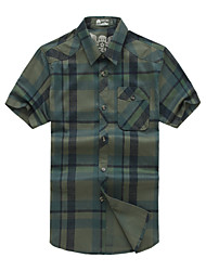 Men's Short Sleeve Shirt,Cotton Casual / Work / Formal Solid